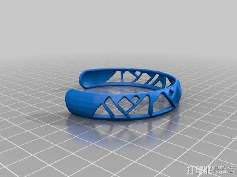 时髦的手镯 3D模型  图1
