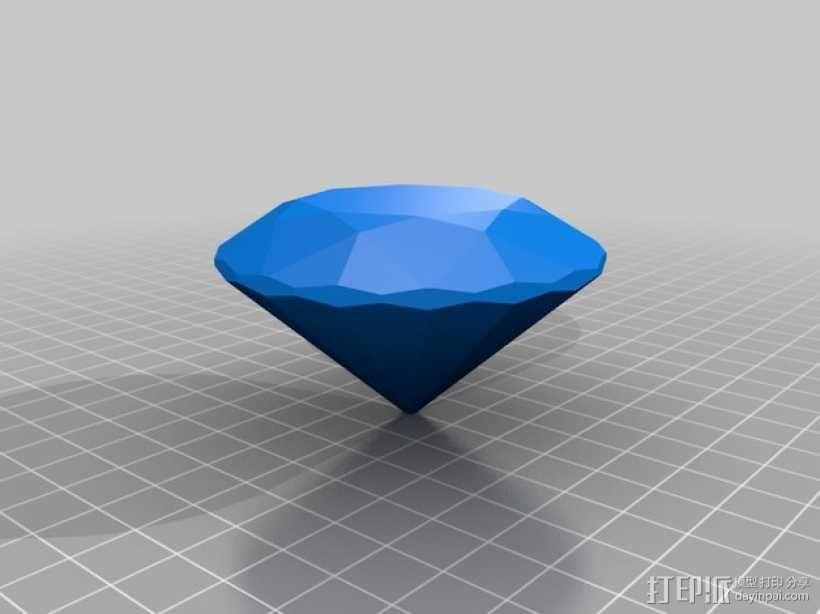 钻石 模型 3D模型  图1