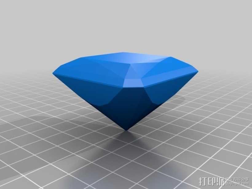 钻石 模型 3D模型  图3