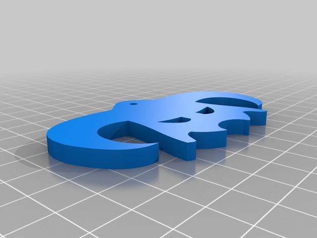 头盔 钥匙坠 3D模型  图2