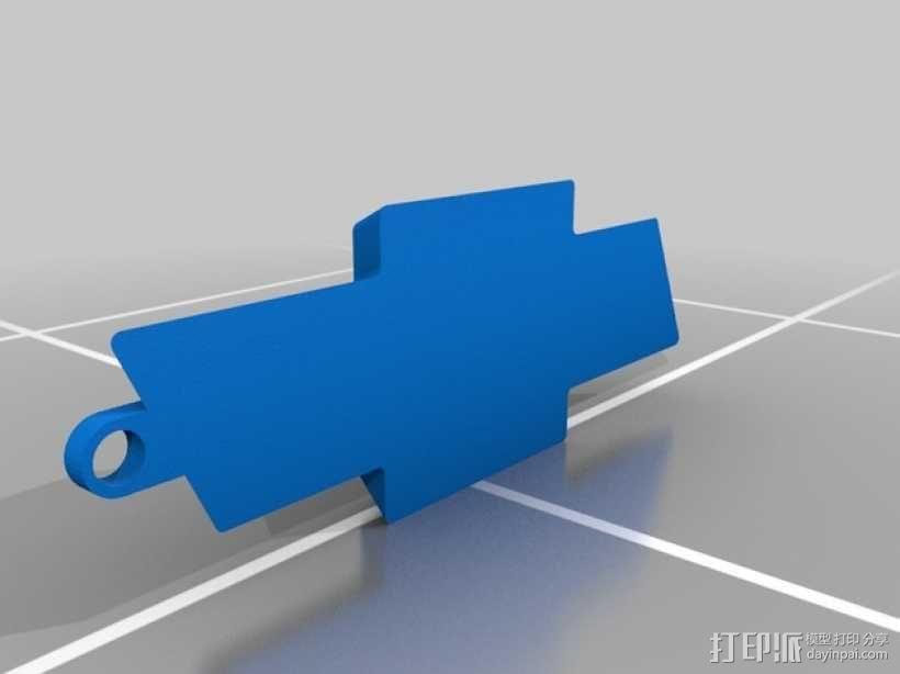 雪佛兰标志 领结 3D模型  图1
