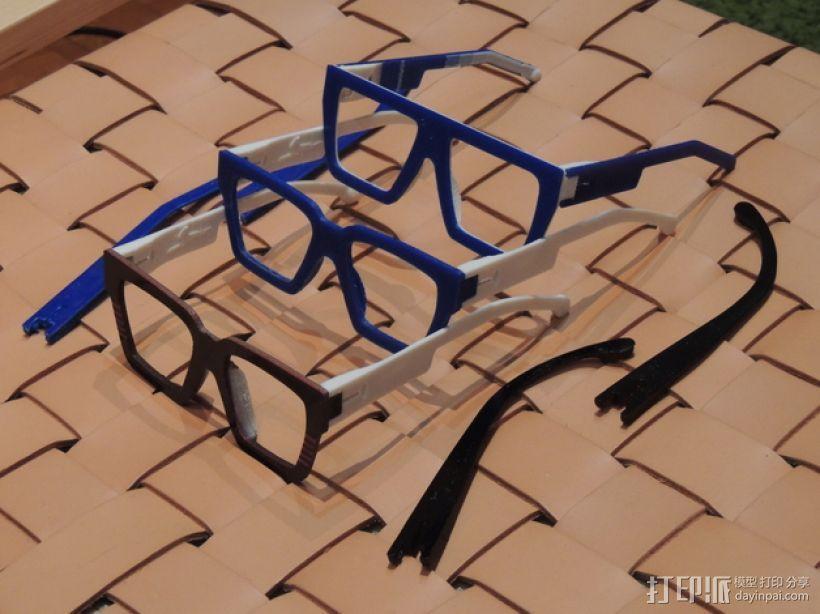 波普风眼镜  3D模型  图1
