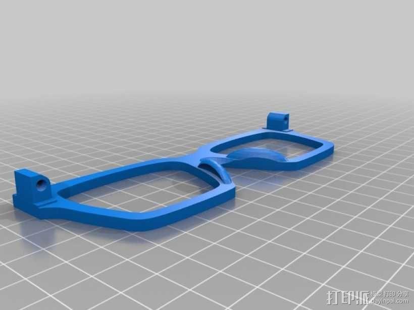 波普风眼镜  3D模型  图2