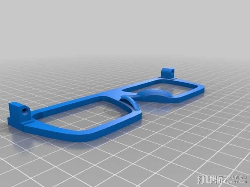 波普风眼镜  3D模型  图3