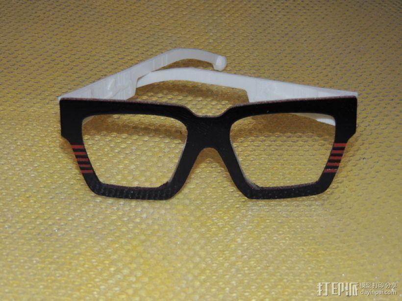 波普风眼镜  3D模型  图7