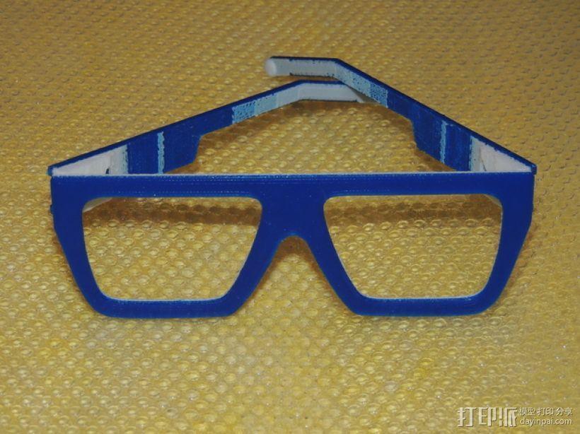 波普风眼镜  3D模型  图9