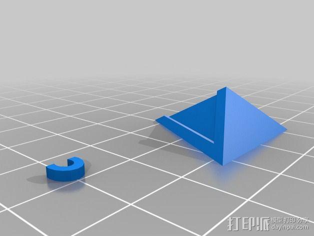 Guy-Manuel三角锥吊坠 3D模型  图2