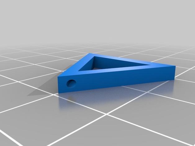 三角形 圆形 正方形 组合耳坠 3D模型  图2