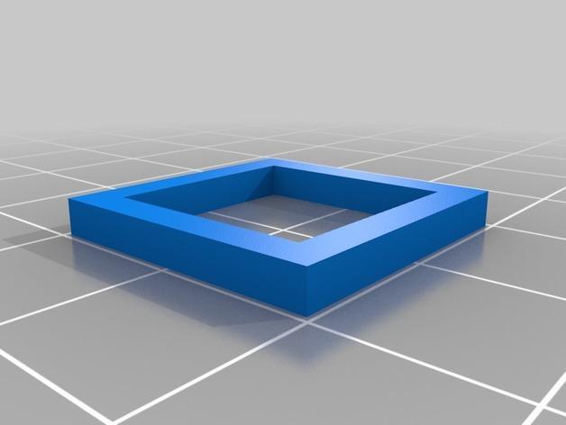 三角形 圆形 正方形 组合耳坠 3D模型  图4