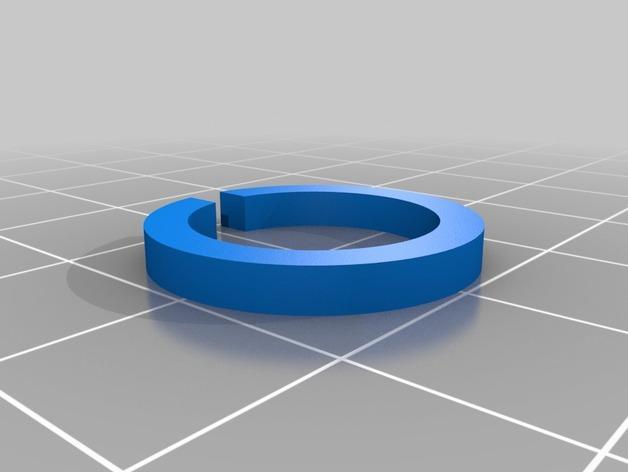 三角形 圆形 正方形 组合耳坠 3D模型  图3