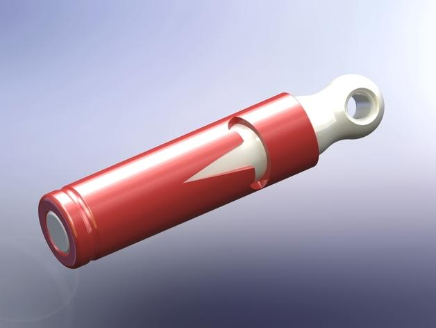 电池形 钥匙坠 3D模型  图2