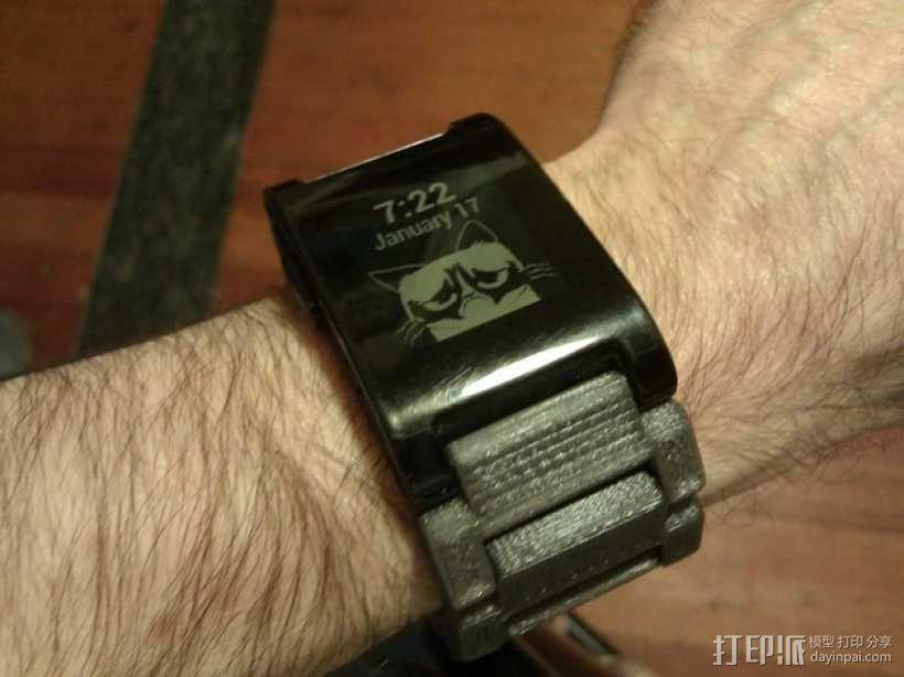 弹簧扣环腕带 手表带 3D模型  图1