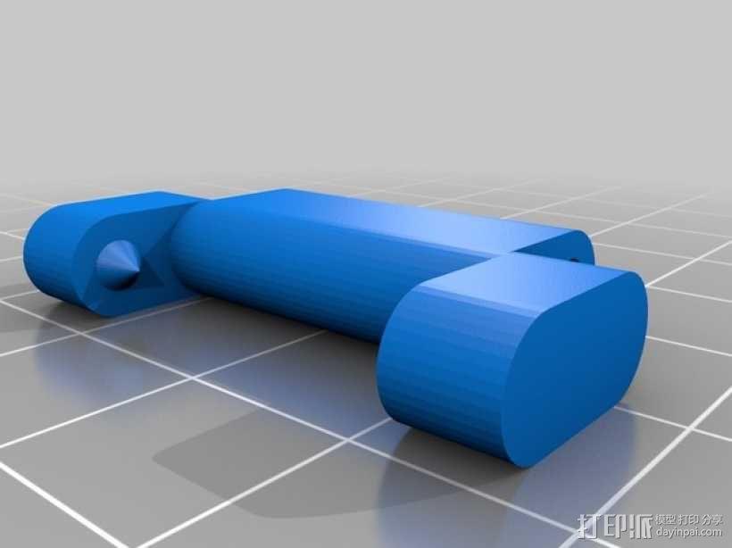 弹簧扣环腕带 手表带 3D模型  图2