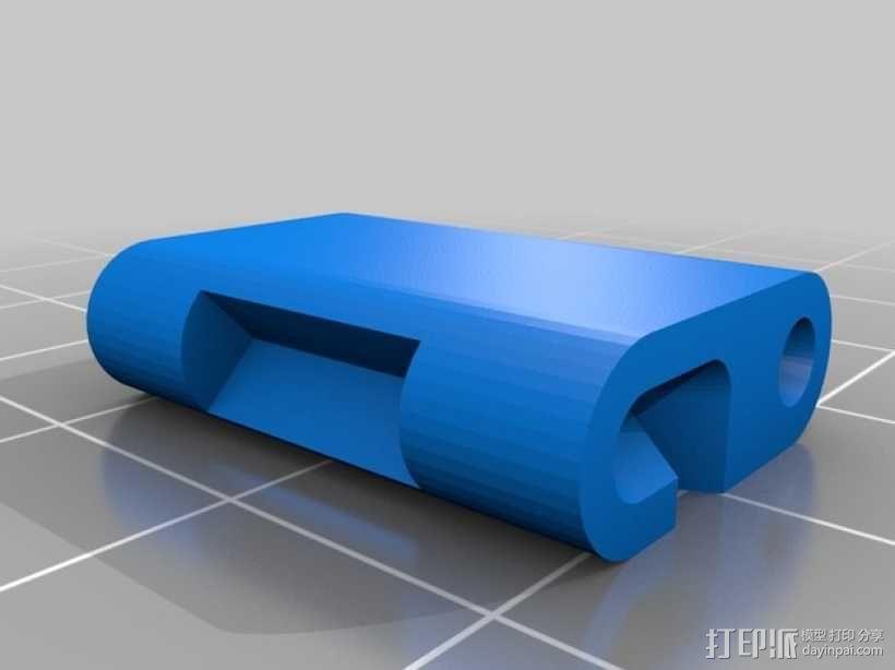 弹簧扣环腕带 手表带 3D模型  图3