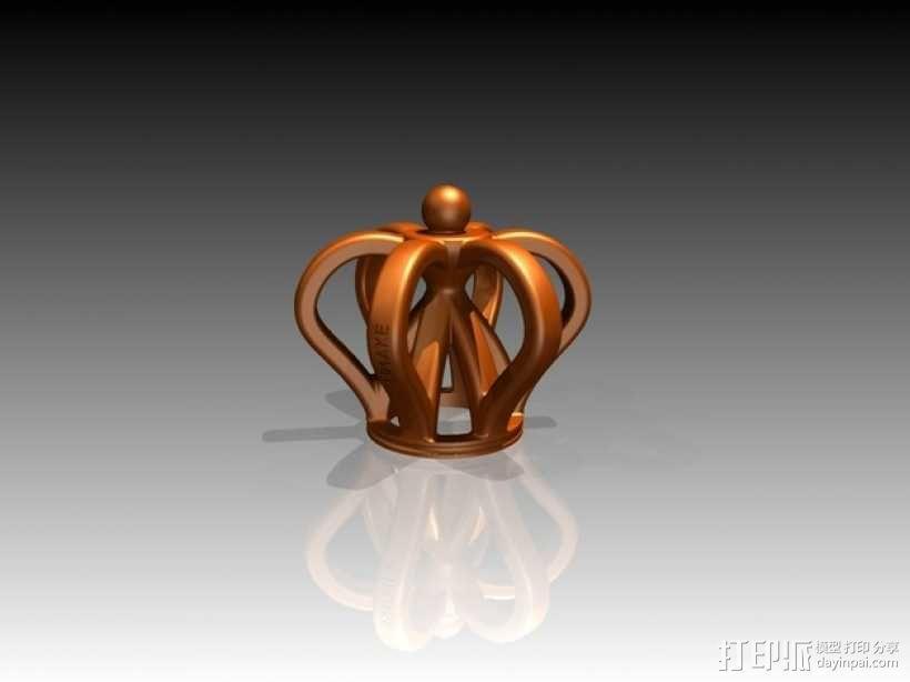 皇冠形 啤酒瓶盖 吊坠 3D模型  图3