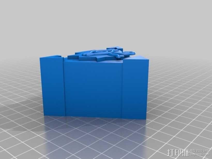 游戏王拼图魔方 吊坠 3D模型  图2