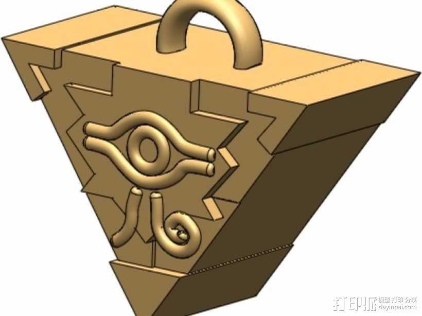 游戏王拼图魔方 吊坠 3D模型  图3