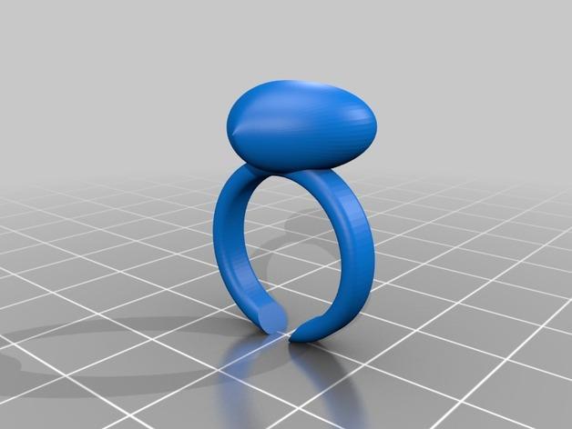山茶花 骰子 积木 戒指 3D模型  图2