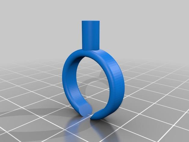 山茶花 骰子 积木 戒指 3D模型  图5