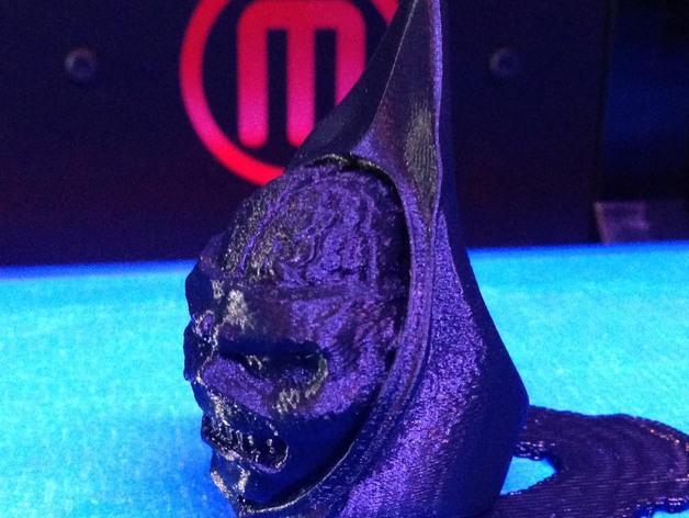 Eddie头像戒指 3D模型  图4