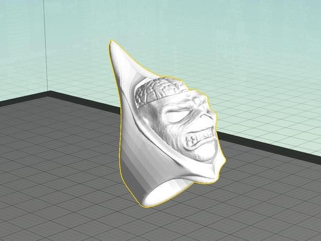 Eddie头像戒指 3D模型  图2
