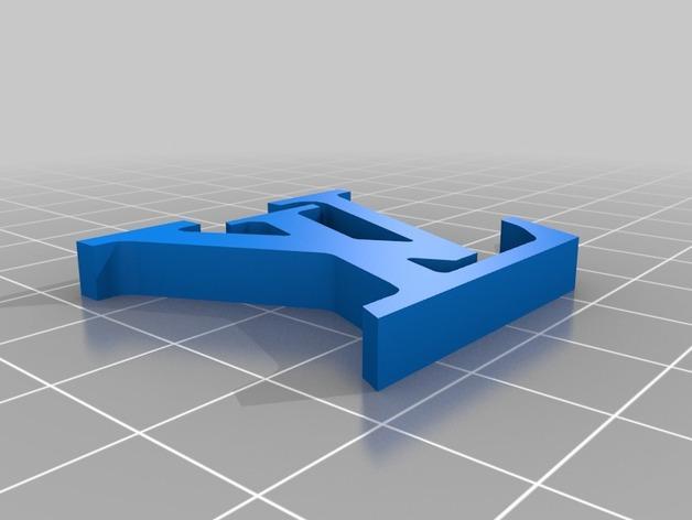 Louis Vuitton 路易威登标志 钥匙坠 3D模型  图2