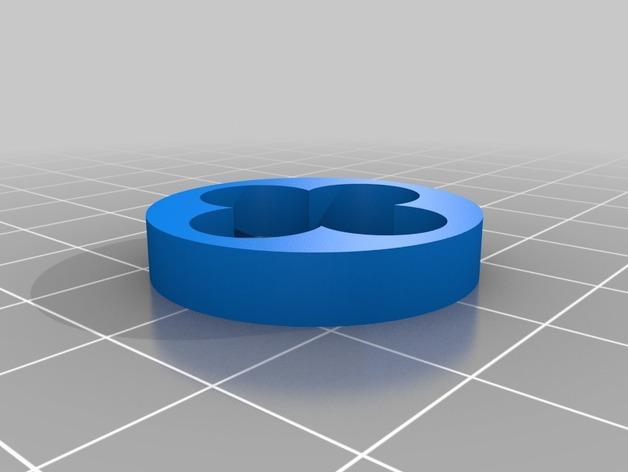 Louis Vuitton 路易威登标志 钥匙坠 3D模型  图3