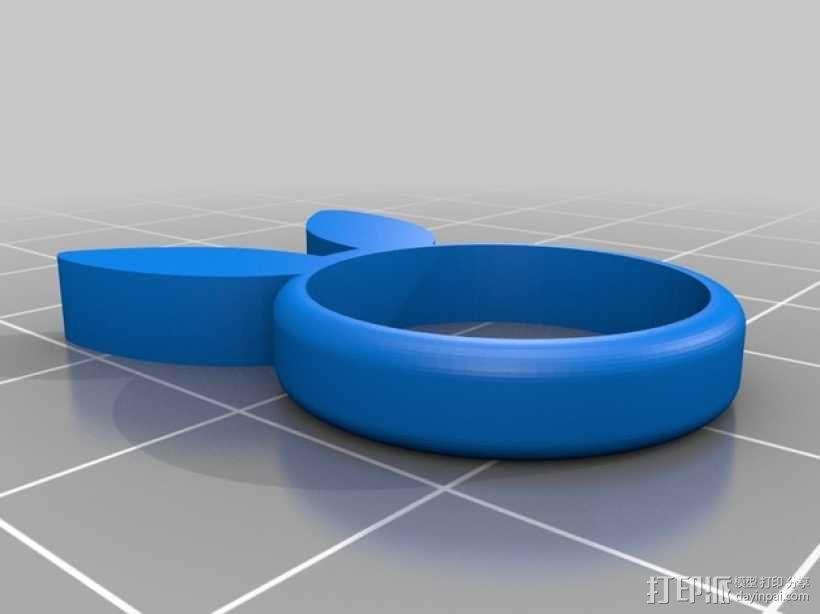 兔子 戒指 3D模型  图3