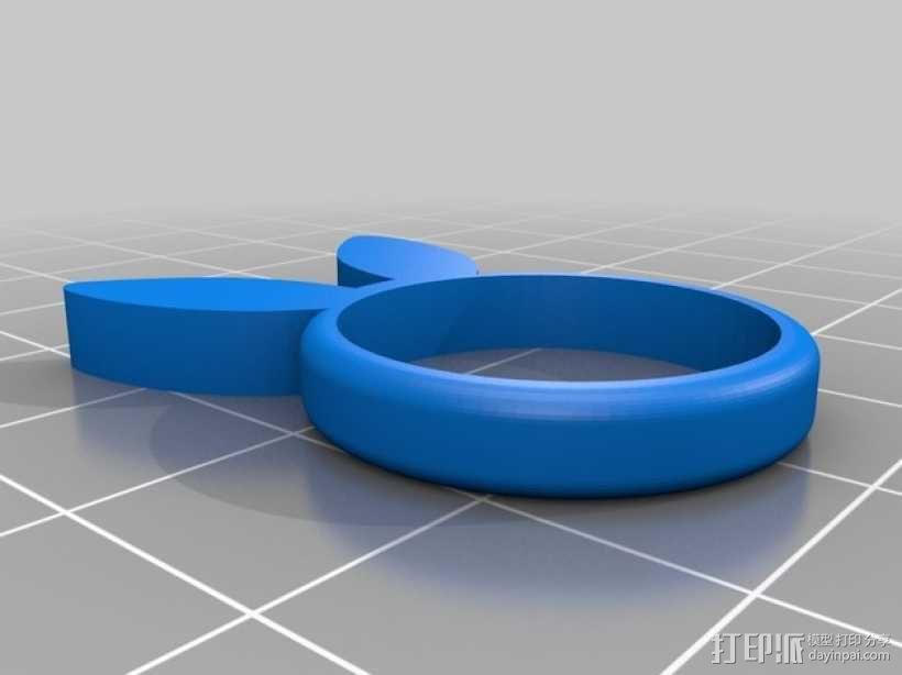 兔子 戒指 3D模型  图4