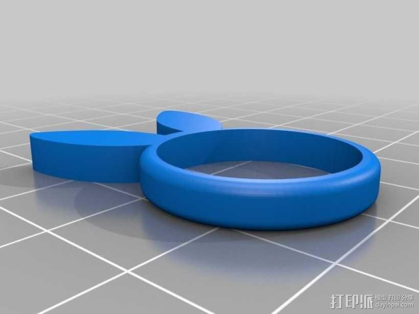 兔子 戒指 3D模型  图12