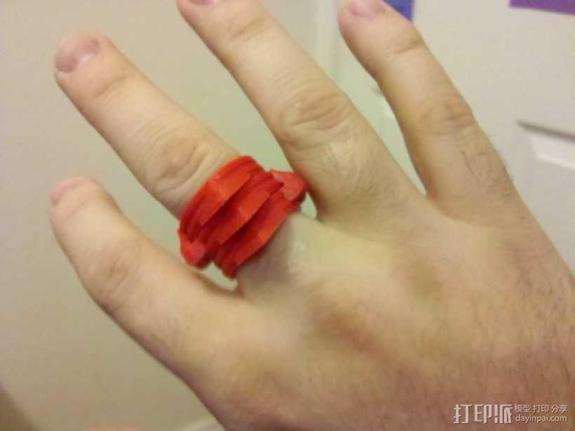可折叠手指套环  3D模型  图1