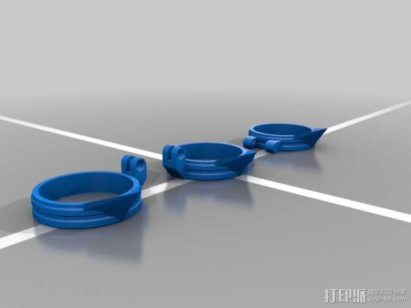 可折叠手指套环  3D模型  图2
