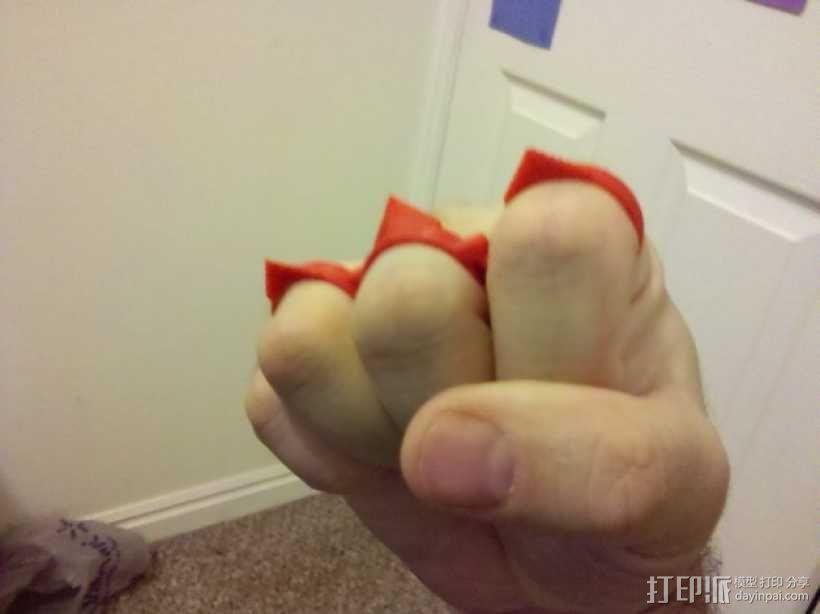 可折叠手指套环  3D模型  图3
