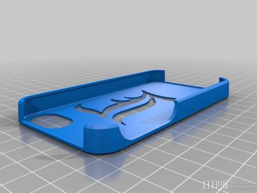 死亡笔记 字母L iPhone手机套 3D模型  图1