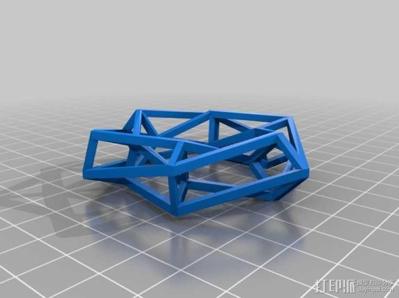 餐巾圈 3D模型  图1