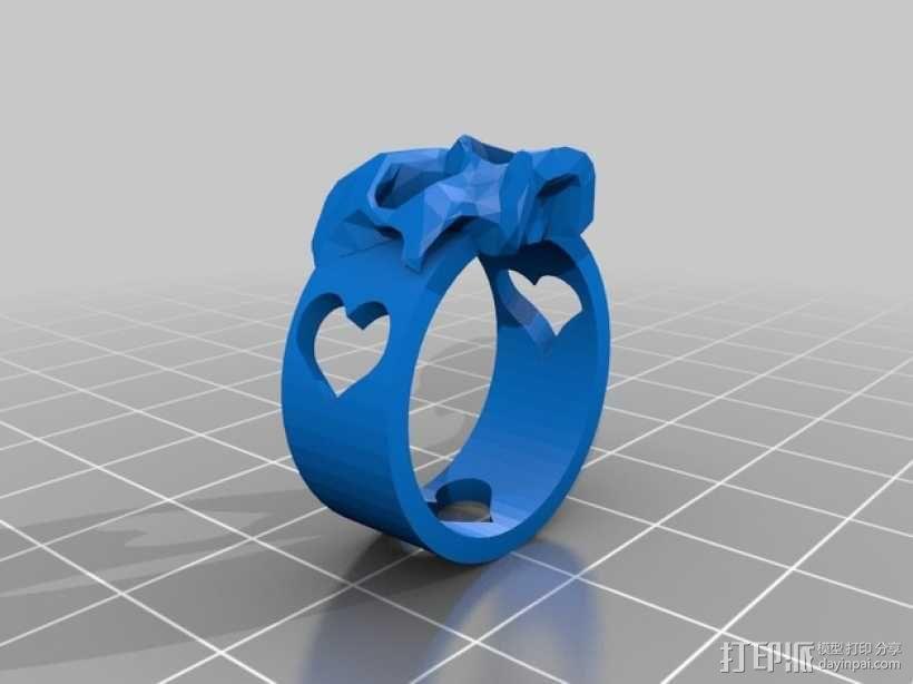 骷髅头 戒指 3D模型  图2