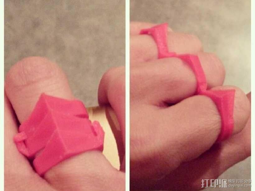 手指套环  3D模型  图1