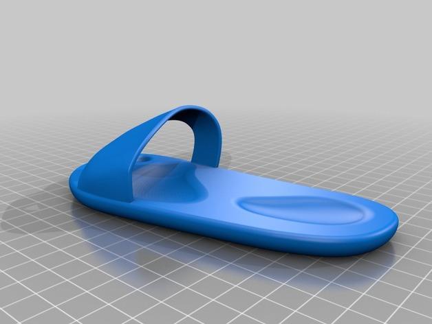 海滩拖鞋  3D模型  图2