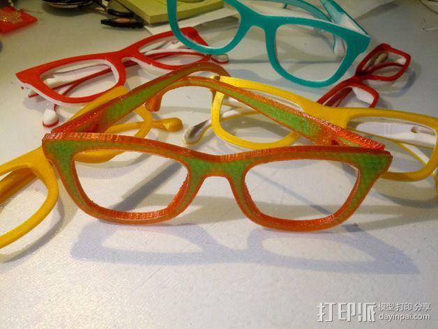 Occhiali眼镜 3D模型  图3