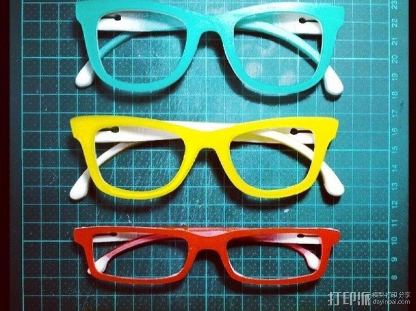 Occhiali眼镜 3D模型  图1