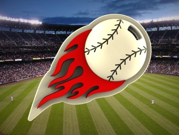 棒球标志 吊坠 3D模型  图2