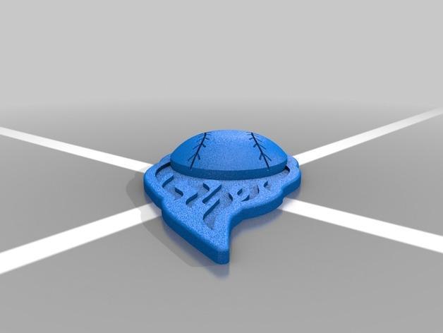 棒球标志 吊坠 3D模型  图4