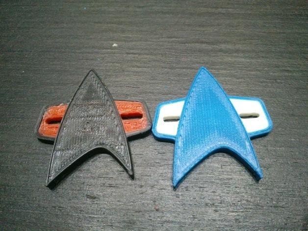 星际迷航 标志 3D模型  图1