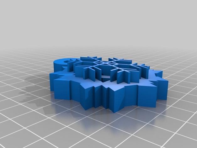 雪花片吊坠  3D模型  图2