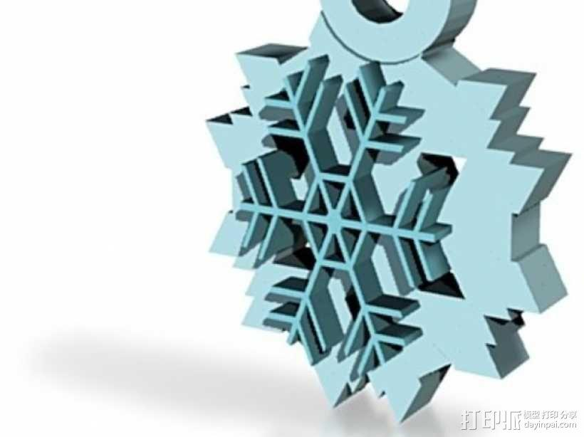 雪花片吊坠  3D模型  图1
