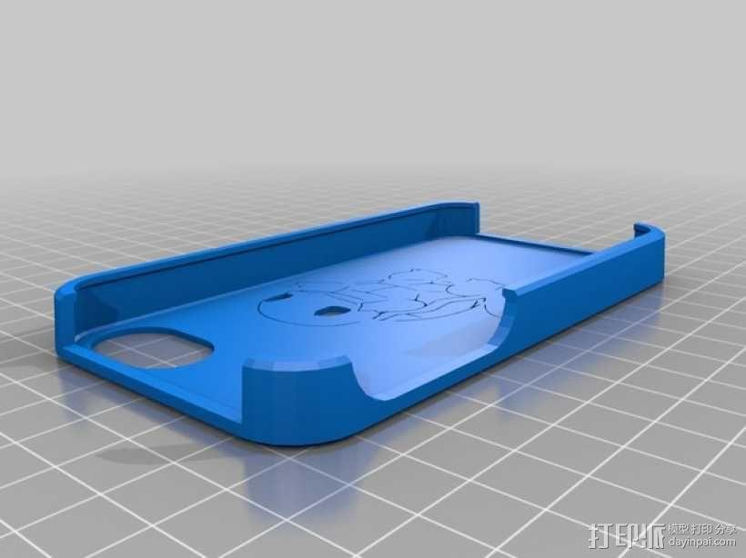 杰尼龟 iPhone 4手机套 3D模型  图1