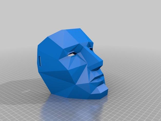 LED低面数 面具 3D模型  图3