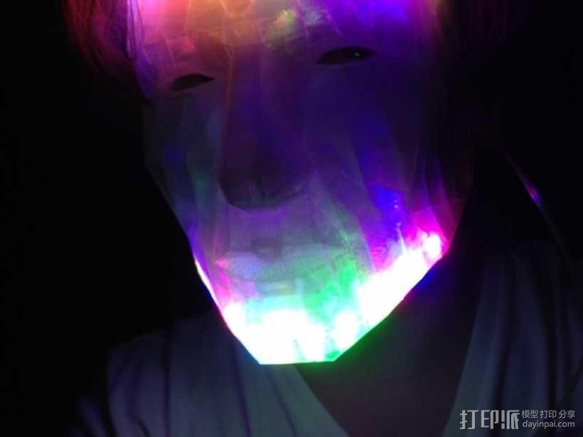 LED低面数 面具 3D模型  图1