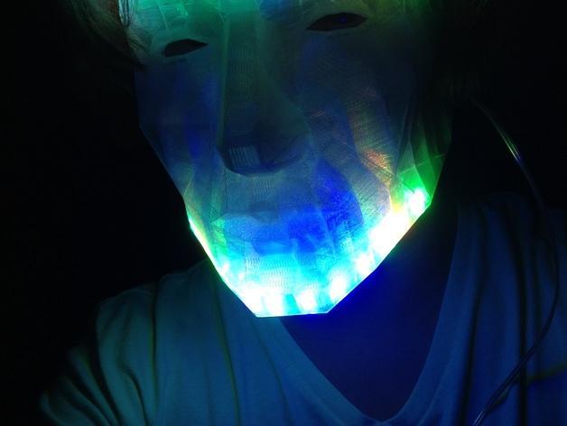 LED低面数 面具 3D模型  图4
