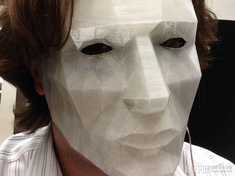LED低面数 面具 3D模型  图7